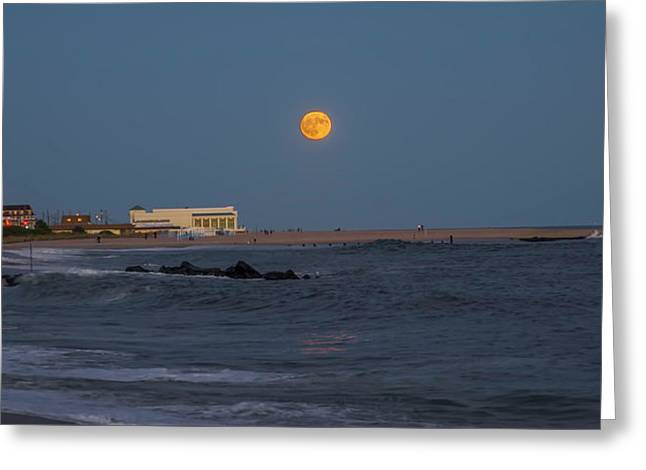 Harvest Moon Over Cape May Greeting Card