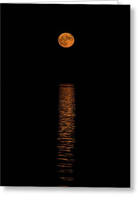 Greeting Card featuring the photograph Harvest Moonrise by Paul Freidlund