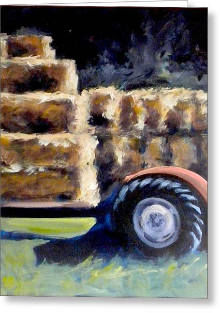 Hay Bales Greeting Cards - Harvest Greeting Card by Paula Strother