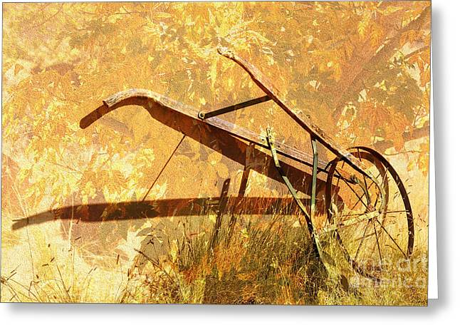 Harvest Plow Greeting Card