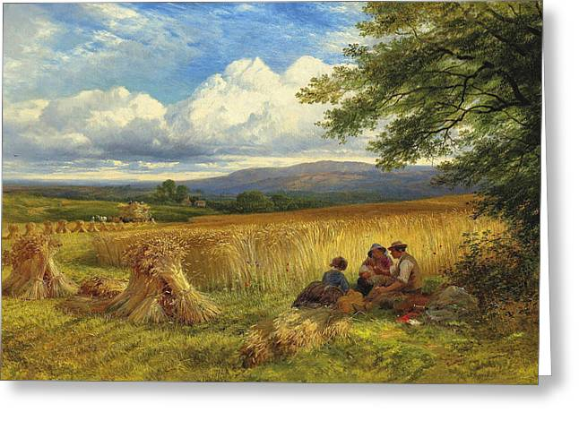 Harvest Rest Greeting Card by George Cole