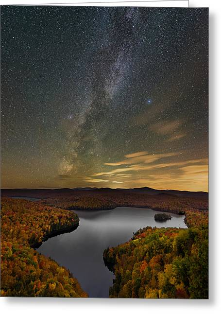 Harvest Sky Greeting Card by Michael Blanchette