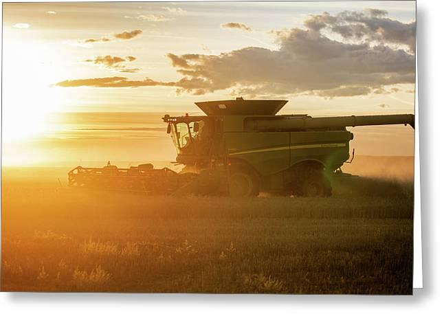 Harvest Sun Greeting Card by Todd Klassy