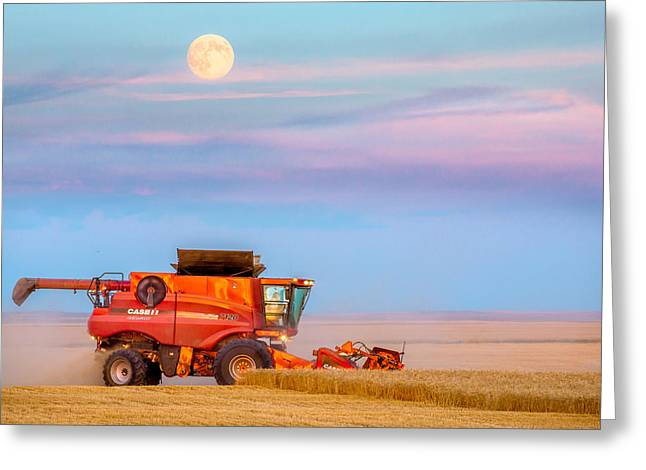 Harvest Supermoon Greeting Card by Todd Klassy