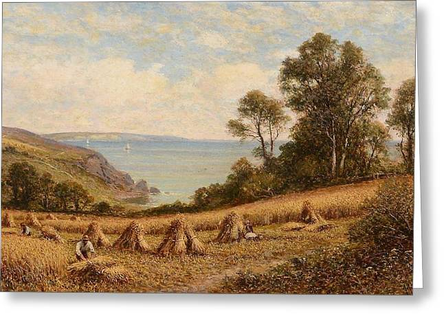 Harvest Time Greeting Card by Alfred Augustus