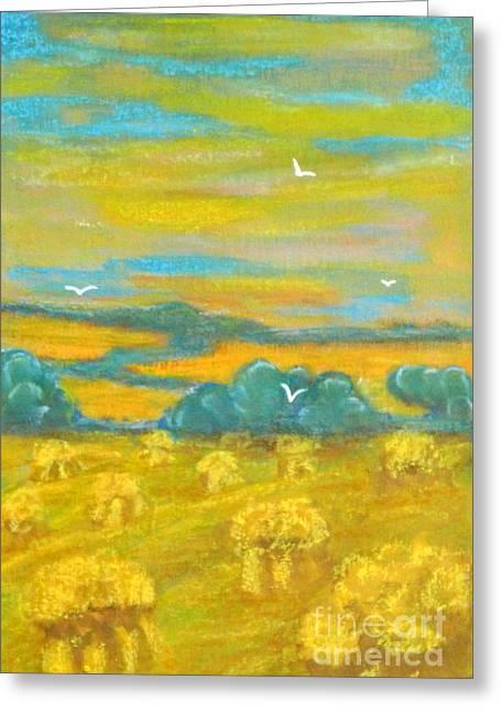 Harvest Time Greeting Card by Anna Folkartanna Maciejewska-Dyba