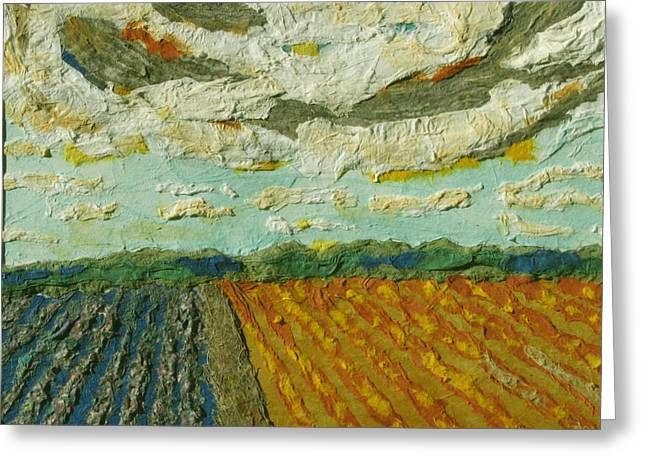 Harvest Time Greeting Card by Naomi Gerrard