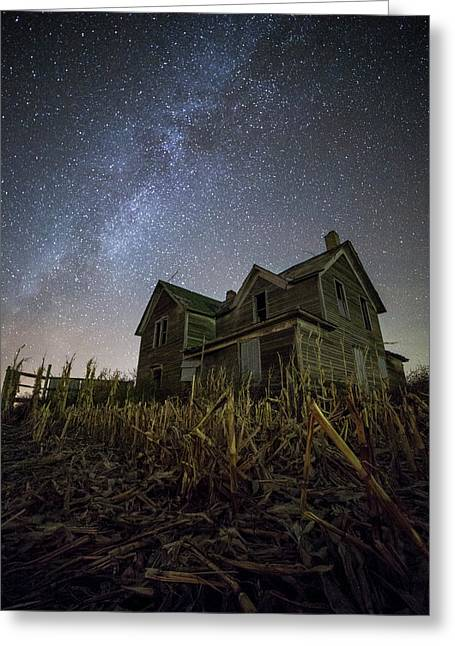 Harvested  Greeting Card by Aaron J Groen