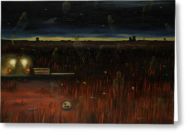Harvester Of Souls Greeting Card by Leah Saulnier The Painting Maniac
