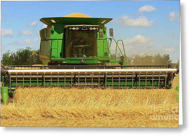 Harvesting Greeting Card by Anthony Djordjevic