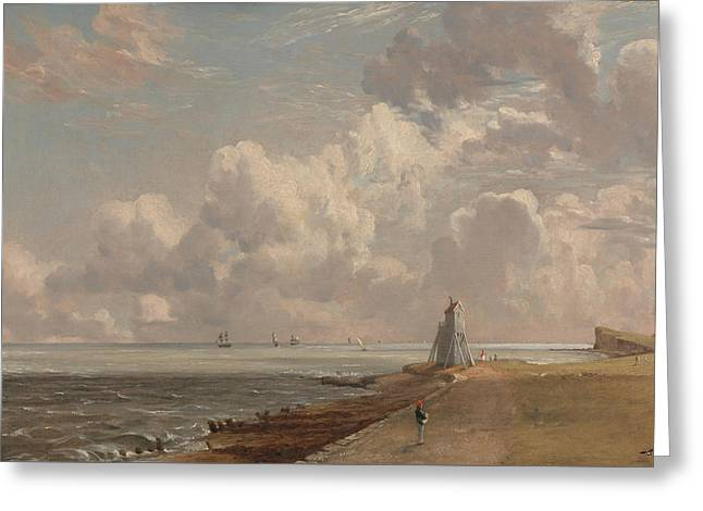 Harwich The Low Lighthouse And Beacon Greeting Card