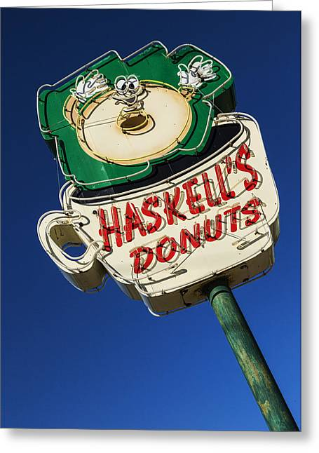 Haskell's Donuts #1 Greeting Card by Stephen Stookey