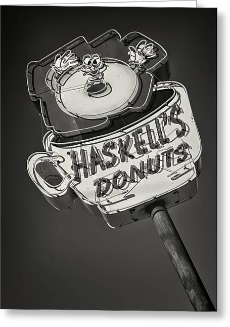 Haskell's Donuts #2 Greeting Card by Stephen Stookey