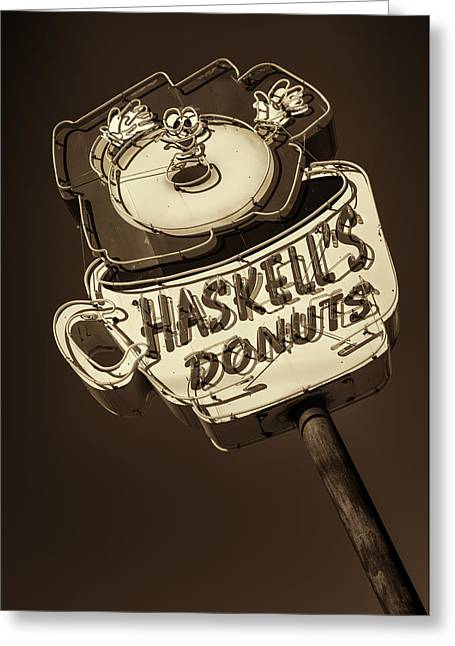 Haskell's Donuts #3 Greeting Card by Stephen Stookey