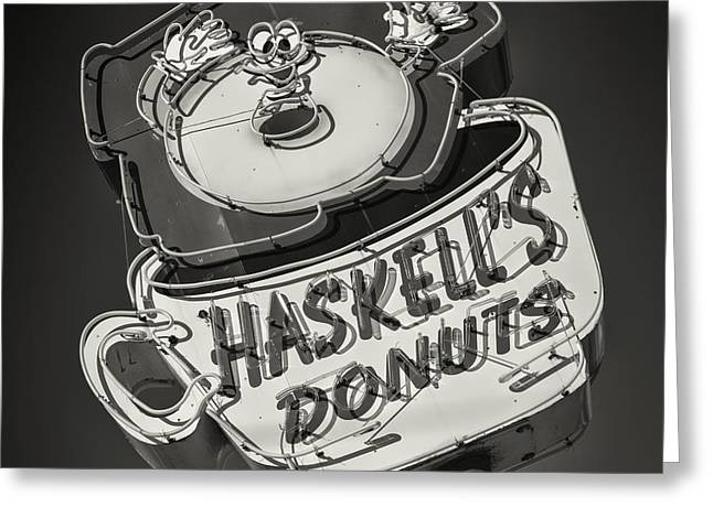 Haskell's Donuts Sign #2 Greeting Card by Stephen Stookey