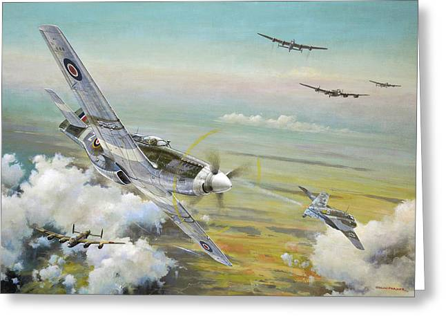 Haslope's Komet Greeting Card by Colin Parker
