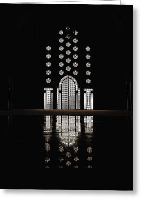 Greeting Card featuring the photograph Hassan II Mosque by Huilin Dai