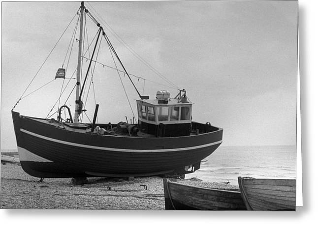 Hastings England Fishing Boat  Greeting Card by Richard Singleton