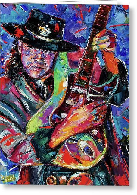 Hat And Guitar Greeting Card by Debra Hurd