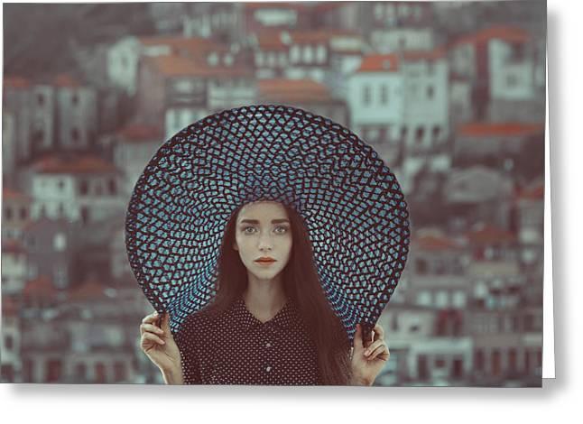 Hat And Houses Greeting Card by Anka Zhuravleva