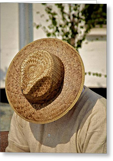Hat Greeting Card by Odd Jeppesen