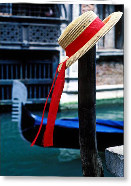 Hat Greeting Cards - Hat on pole Venice Greeting Card by Garry Gay