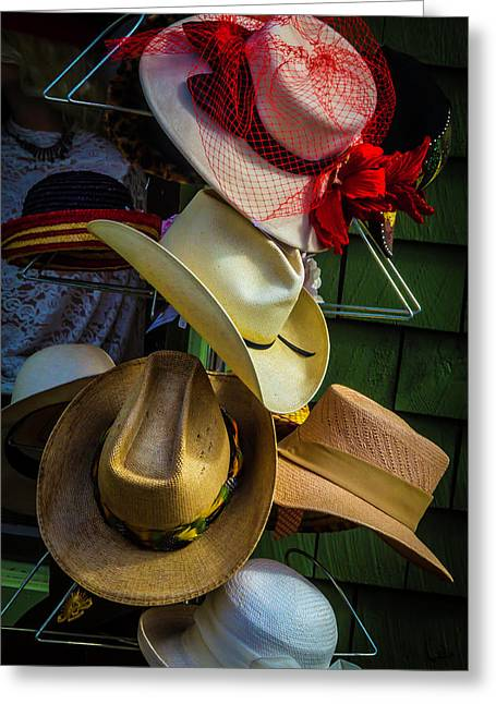 Hat Rack Greeting Card by Garry Gay