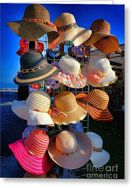 Hat Rack Greeting Card by Olivier Le Queinec