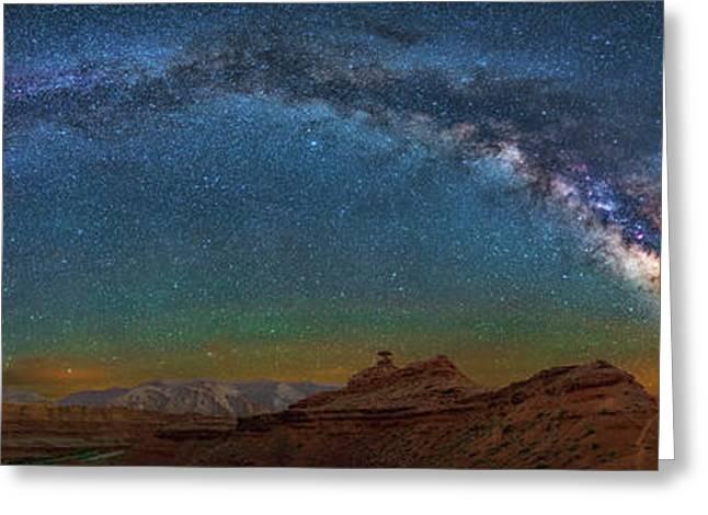 Hat Rock Milky Way Greeting Card