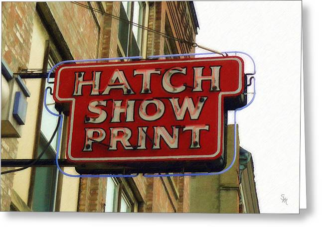 Hatch Show Print Greeting Card