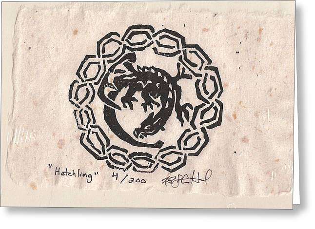 Hatchling Greeting Card by Shane Hurd