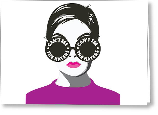 Hater Shades Greeting Card