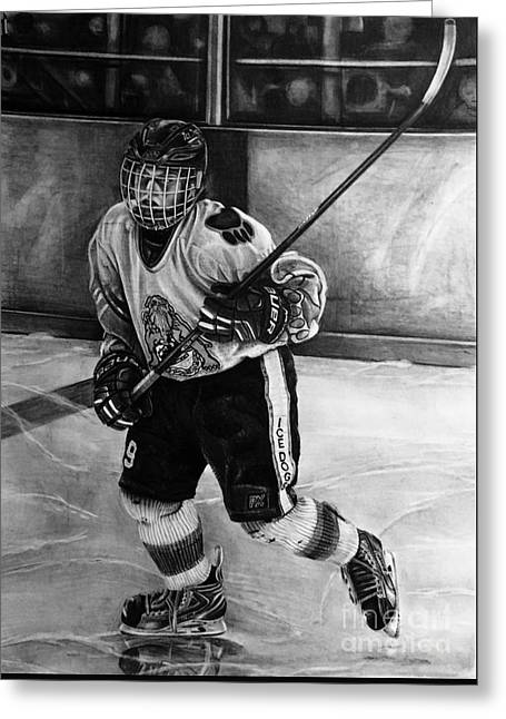 #9 Hatfield Ice Dog Bantam A Greeting Card by Gary Reising