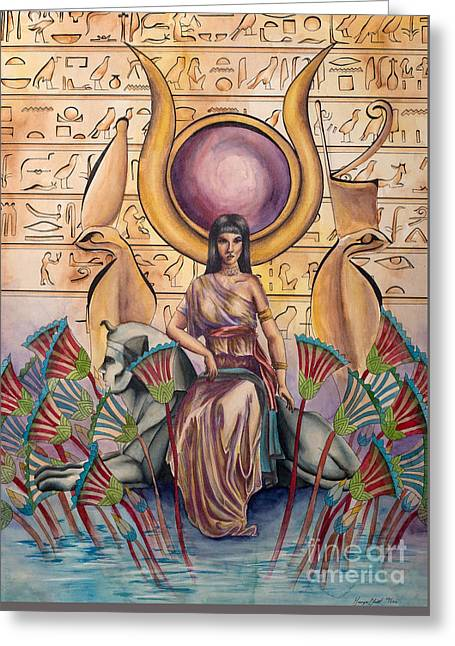 Hathor Greeting Card by Georges Loewenguth