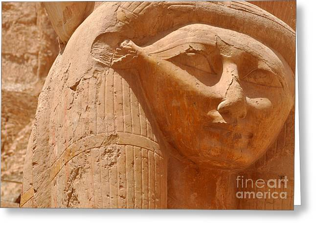 Hathor Greeting Card by Stevyn Llewellyn