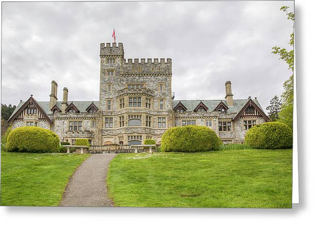 Hatley Castle Greeting Card by Kristina Rinell