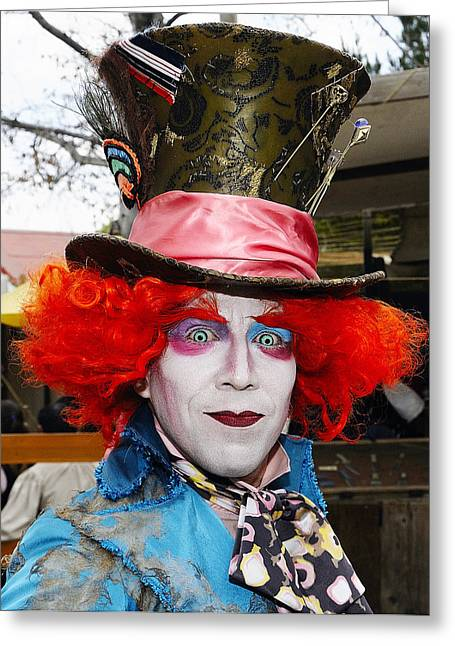 Hatter Greeting Card by Clarence Alford