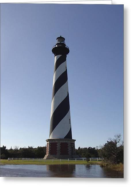 Hatteras Lighthouse Greeting Card by Tina B Hamilton