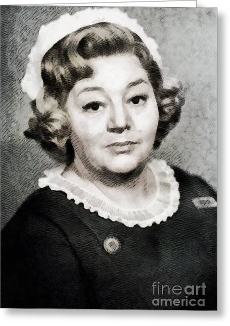Hattie Jacques, Vintage British Actress By John Springfield Greeting Card