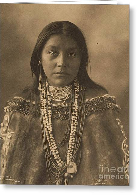 Hattie  Tom  Apache Greeting Card by Pg Reproductions