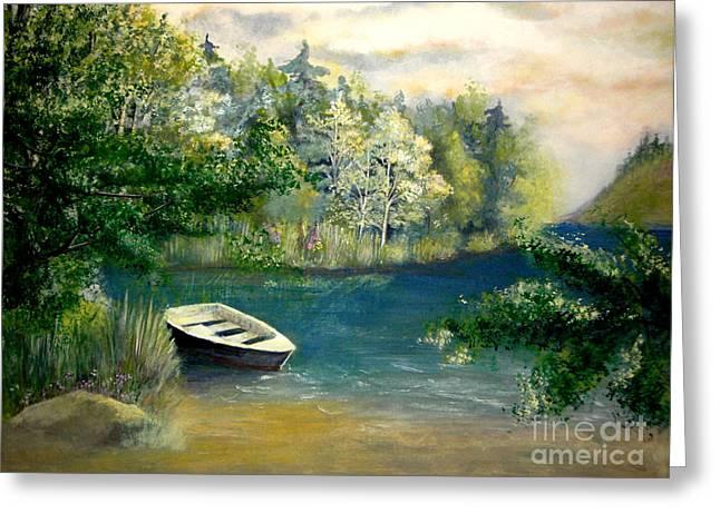 Hatzec Lake Greeting Card by Vivian  Mosley