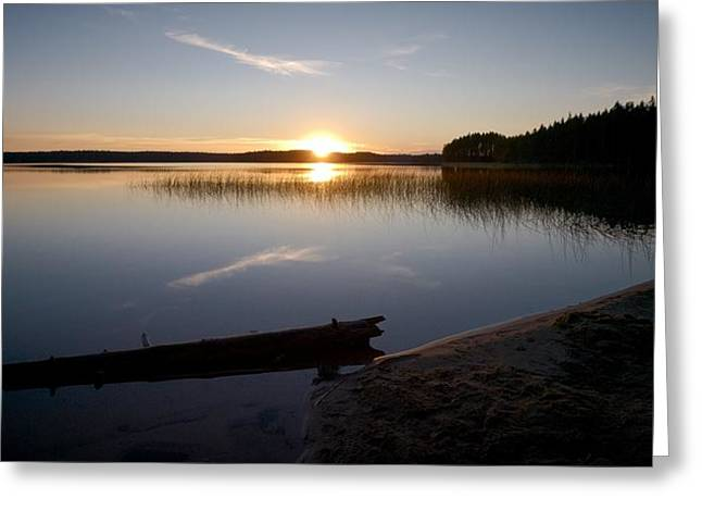 Greeting Card featuring the photograph Haukkajarvi Evening by Jouko Lehto