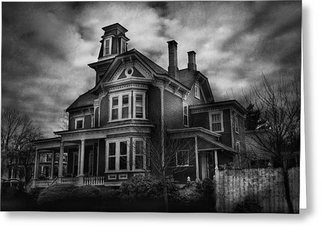 Haunted - Flemington Nj - Spooky Town Greeting Card by Mike Savad
