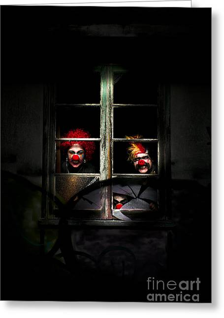 Haunted Clown House Greeting Card