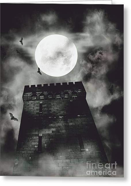 Haunted Dark Castle Greeting Card by Jorgo Photography - Wall Art Gallery