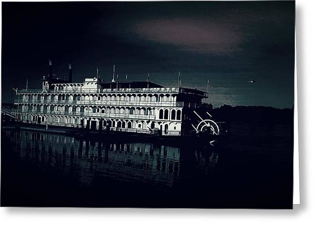 Haunted Dinner Cruise On The Columbia River  Greeting Card