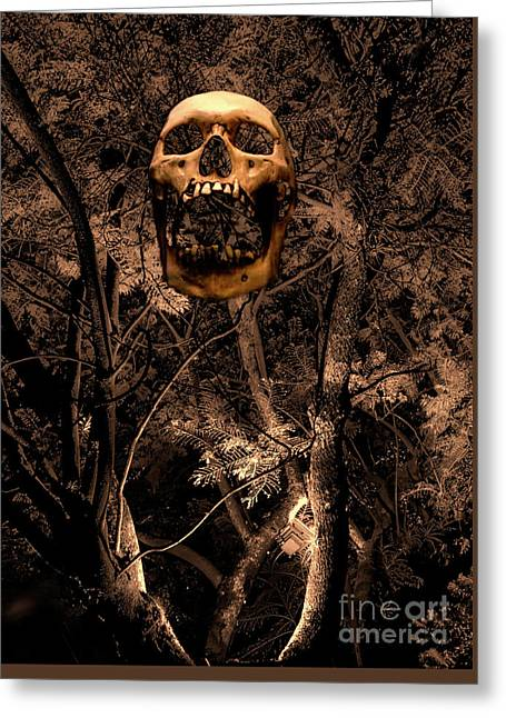 Haunted Forest II Greeting Card by Al Bourassa