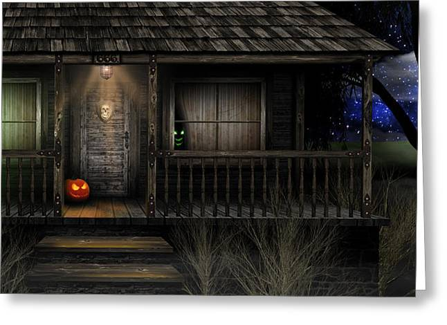 Haunted Halloween 2016 Greeting Card by Anthony Citro