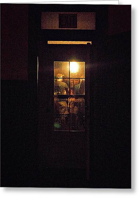 Haunted House 4 Greeting Card by William Horden