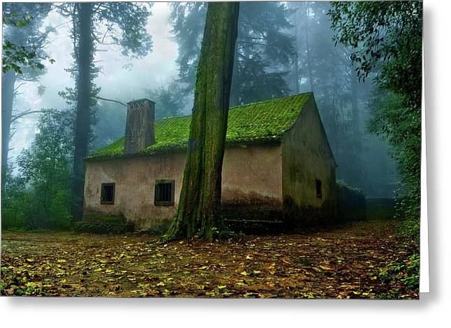 Greeting Card featuring the photograph Haunted House by Jorge Maia